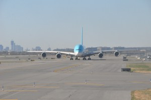Korean Air A380 at New York's JFK Airport