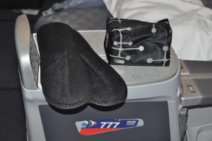 American's new slippers and business-class amenity kit