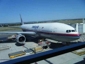 Malaysia Airlines 777 at at Adelaide Airport