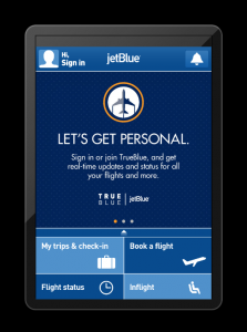 JetBlue's new mobile app