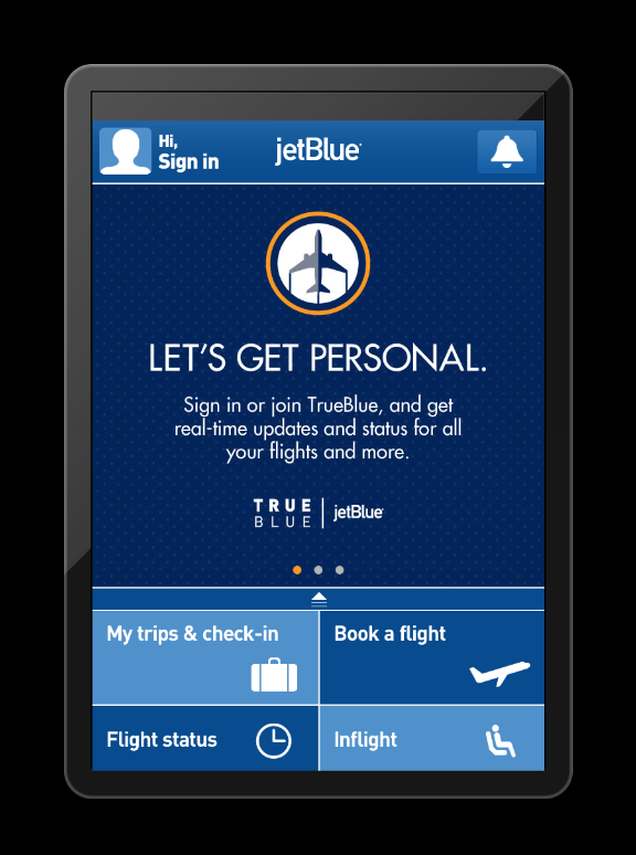 Jetblue updates app adds mobile boarding passes frequent business