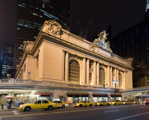 Grand Central Terminal in New York City at night