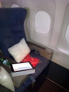 Delta first-class seat