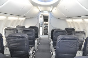 A Boeing 737 with Sky Interior
