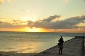 A sunset over Taketomi-Jima