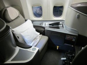 A United First-class Seat