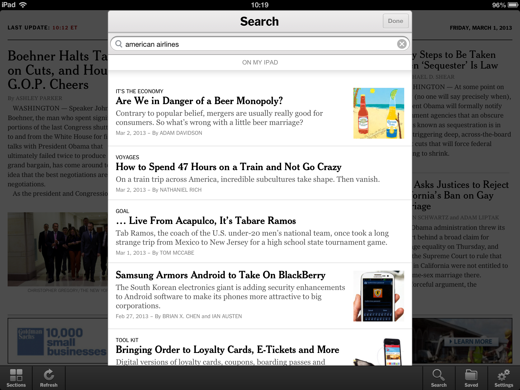 New York Times iPad App With Search and Web App – Review ...