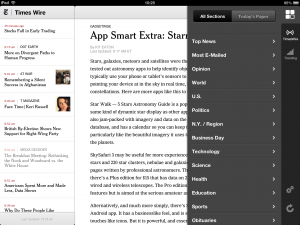 "New York Times ""experimental"" web app"