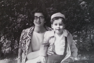 The author, right, and his mother