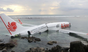 A Lion Air plane overshot the runway in Bali