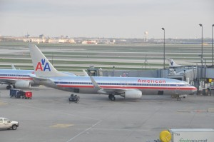 American Airlines aircraft in Chicago
