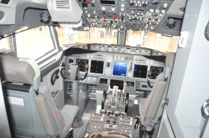 A Boeing 737-800 cockpit
