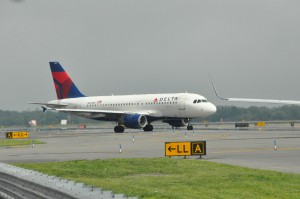 A Delta aircraft at JFK