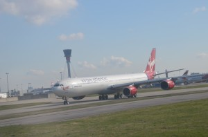 A Virgin Atlantic Aircraft at London-Heathrow