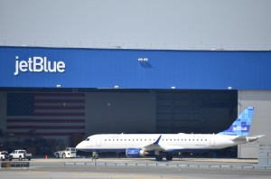 A JetBlue plane at JFK