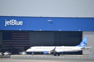 A JetBlue plane at JFK