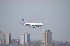 A United aircraft landing at JFK earlier this month