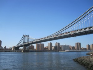 A less famous bridge: the Manhattan Bridge also leads to Brooklyn