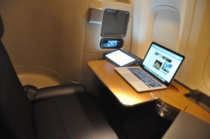 Online on an American Airlines' 777-300ER