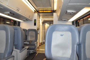 Amtrak Acela business-class cabin