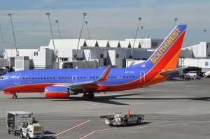 A Southwest aircraft in Seattle