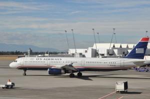 A US Airways jet in Seattle