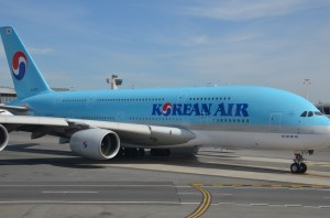 A Korean Air Airbus A380 at JFK