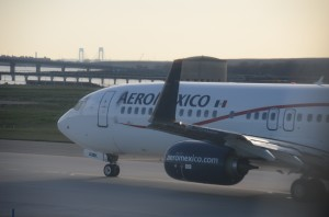 An Aeromexico aircraft at JFK