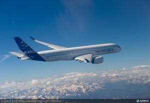 The A350-XWB on its first flight