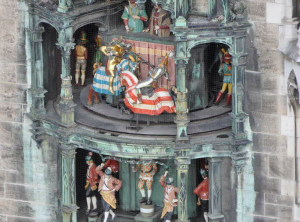 The Glockenspiel during a performance