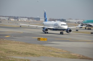 A JetBlue aircraft at JFK