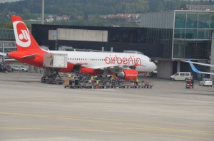 An Air Berlin aircraft in Zurich
