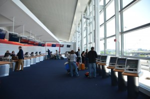 Delta Sky Priority check-in area