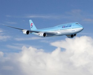 A Boeing 747-8 Intercontinental in Korean livery