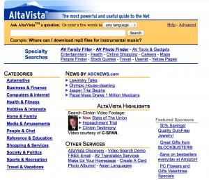 AltaVista in 1998