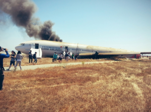 Passenger David Eun's photo after the crash