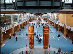 International Arrivals Hall in Vancouver