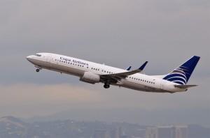 A Copa aircraft en route to Panama City