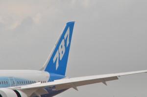 A 787 wingtip