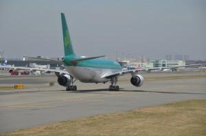 An Aer LIngus plane at JFK