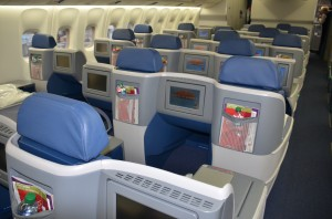 Delta's BusinessElite cabin on a 767-300ER