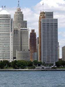 Detroit's financial district