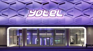 Yotel's entrance in New York CIty
