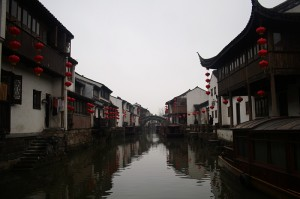 A canal in downtown Suzhou