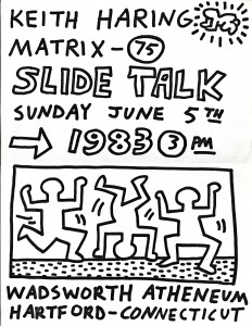 Invitation to a Keith Haring slide talk, 1983