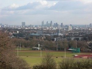 The London skyline as seen from Greenwich