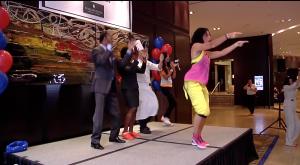 Zumba dancing with Amanda Grant