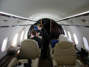 On board a Flexjet flight