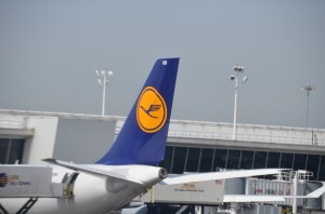 Lufthansa aircraft at JFK
