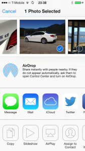 AirDrop and other sharing tools